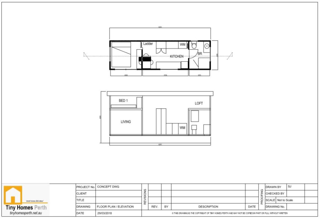 Floor plan and Elevation